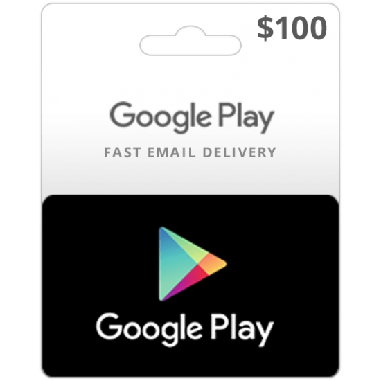 $100 USA Google Play Card (Email Delivery)