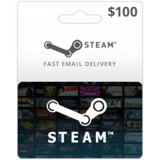 $100 Steam Game Card (Email Delivery)
