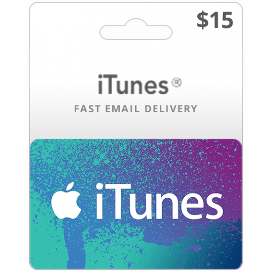 $15 USA iTunes Card (Email Delivery)