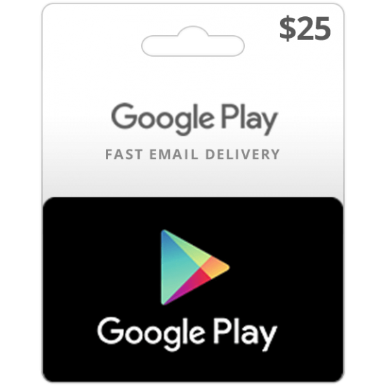 $25 USA Google Play Card (Email Delivery)