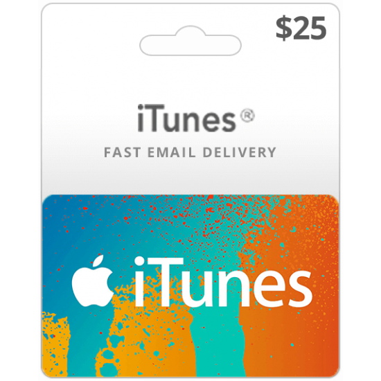$25 USA iTunes Card (Email Delivery)