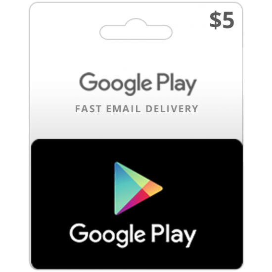 $5 USA Google Play Card (Email Delivery)