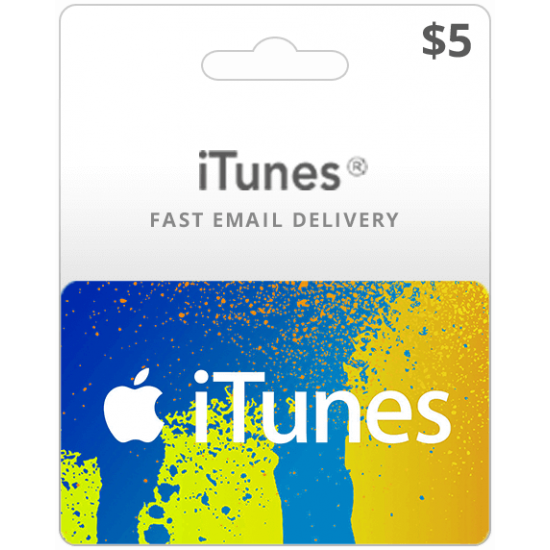 $5 USA iTunes Card (Email Delivery)