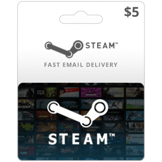 $5 Steam Game Card (Email Delivery)