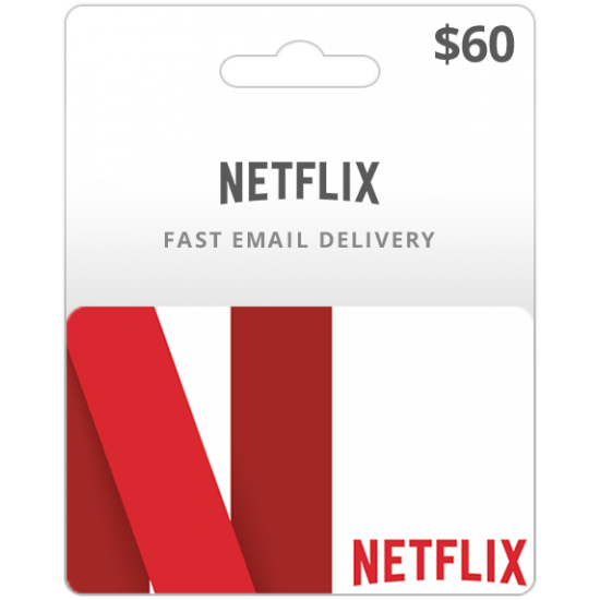 $60 USA Netflix Card (Email Delivery)